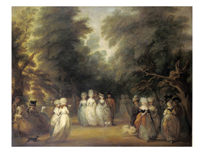 Damen Bei Der Promenade Im St.James's Park London Giclee Print by George Frost