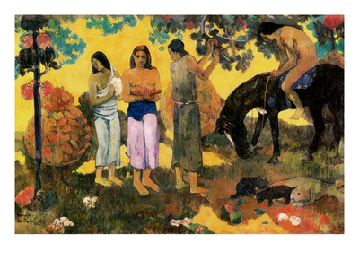 Rupe Rupe (Fruit Gathering), 1899 Giclee Print by Paul Gauguin