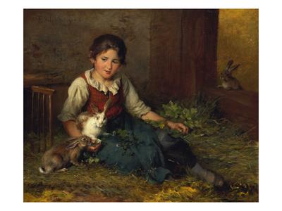 Die Hasenfreundin Giclee Print by Felix Schlesinger