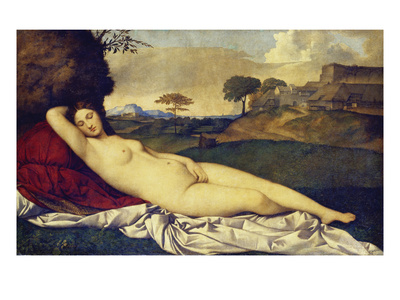 The Sleeping Venus, about 1510 Giclee Print by called Giorgione, Giorgio da Castelfranco
