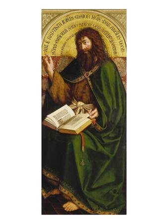 John the Baptist. Copy after Van Eyck (Ghent Altarpiece) Giclee Print by Michiel Coxcie