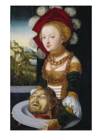 Salome with the Head of John the Baptist Giclee Print by the Elder (Studio of), Lucas Cranach