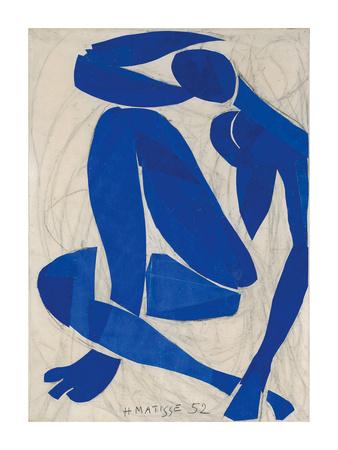 Nu Bleu IV Posters by Henri Matisse
