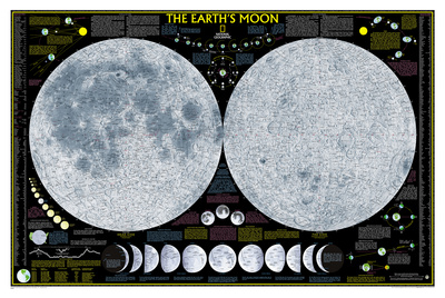 National Geographic - Earth's Moon Map Laminated Poster Posters by National Geographic