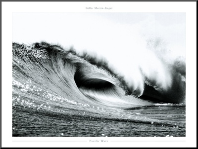 Pacific Wave Mounted Print by Gilles Martin-Raget