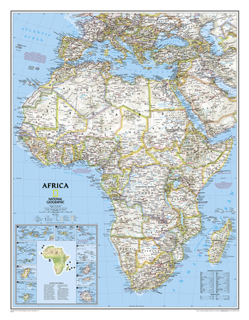 National Geographic - Africa Classic Map, Enlarged & Laminated Poster Billeder af Geographic, National