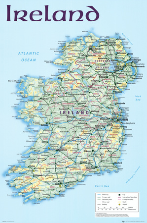 Map of Ireland Posters