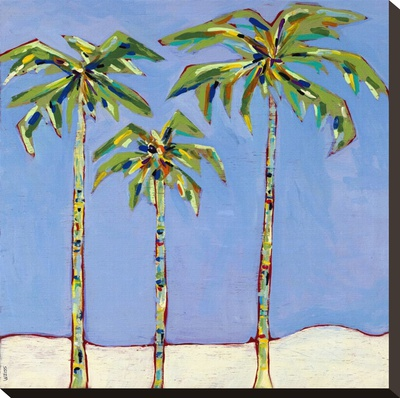 So Cal Palm I Stretched Canvas Print by Jan Weiss