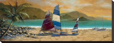 Little Bay Trio Stretched Canvas Print by Joe Sambataro