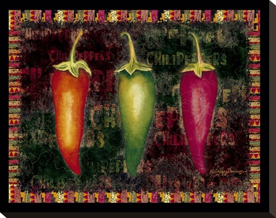 Red Hot Chili Peppers I Stretched Canvas Print by Kathleen Denis