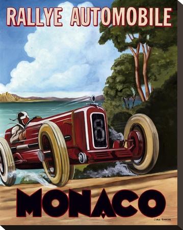 Monaco Rallye Stretched Canvas Print by Chris Flanagan