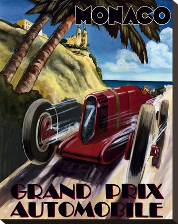 Monaco Grand Prix Stretched Canvas Print by Chris Flanagan