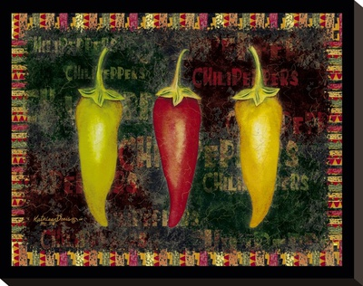 Red Hot Chili Peppers II Stretched Canvas Print by Kathleen Denis