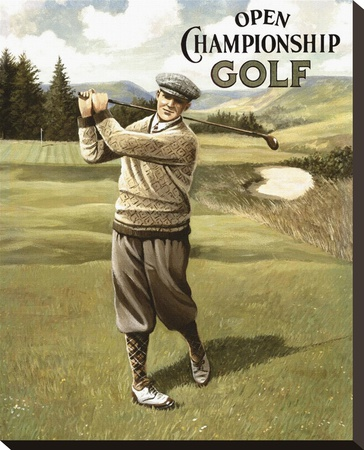 Open Championship Golf II Stretched Canvas Print by Kevin Walsh