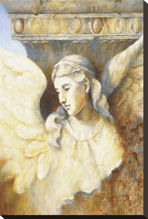 Angel Of Antiquity Stretched Canvas Print by Fran Di Giacomo