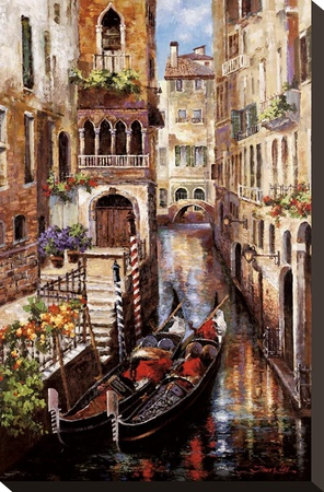 Italian Love Story Stretched Canvas Print by James Lee