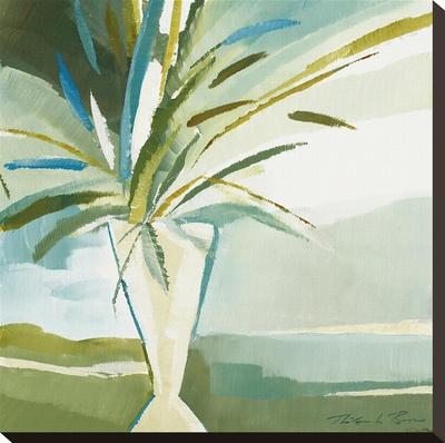 Blue Vase 1 Stretched Canvas Print by Natasha Barnes