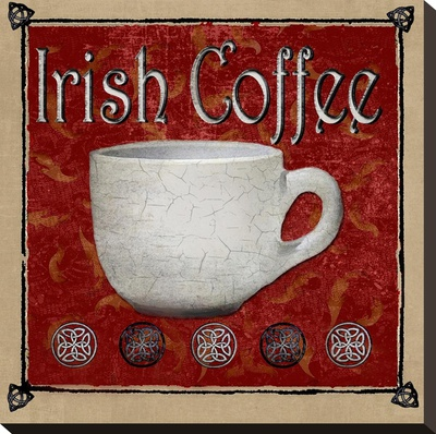 Irish Coffee Stretched Canvas Print by Karen J. Williams