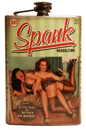 Bettie Page Spank Flask Flask