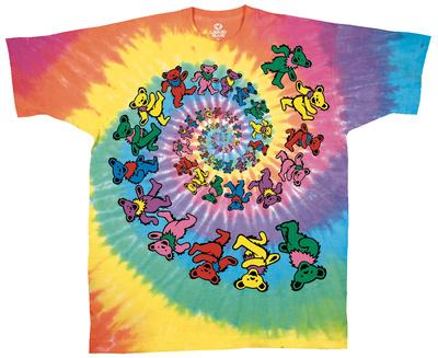 Grateful Dead - Spiral Bears T-shirts