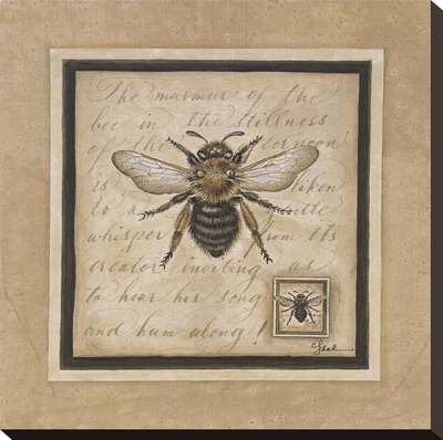 Worker Bee Stretched Canvas Print by Constance Lael