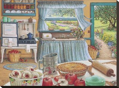 Apple Pie Harvest Stretched Canvas Print by Janet Kruskamp