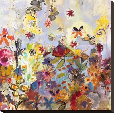 Garden of Honesty Stretched Canvas Print by Joan Elan Davis