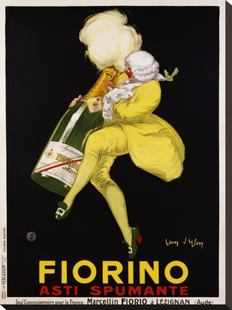 Fiorino Asti Spumante, 1922 Stretched Canvas Print by Jean D' Ylen