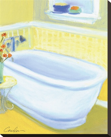Porcelain Bath l Stretched Canvas Print by Jeff Condon