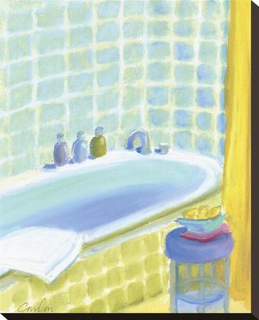 Porcelain Bath ll Stretched Canvas Print by Jeff Condon