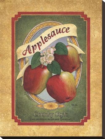 Applesauce Stretched Canvas Print by Lillian Egleston