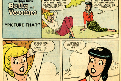 Archie Comics Retro: Betty and Veronica Comic Strip; Picture That (Aged) Posters