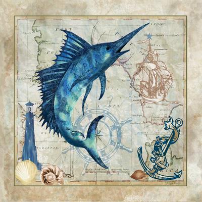 Nautical Swordfish Print by Jill Meyer