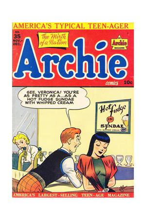 Archie Comics Retro: Archie Comic Book Cover No.35 (Aged) Prints by Bill Vigoda