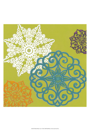 Vibrant Winter Lace I Posters by Erica J. Vess