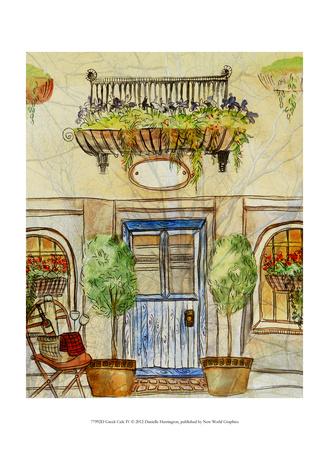 Greek Caf IV Art by Danielle Harrington