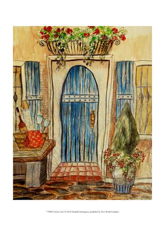 Greek Caf I Prints by Danielle Harrington