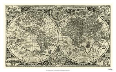 Totius Orbis Cogniti, Leiden, 1605 Giclee Print by Paulus Merula