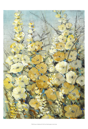 Cluster of Hollyhock II Prints by Tim O'toole