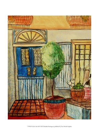 Greek Caf III Prints by Danielle Harrington