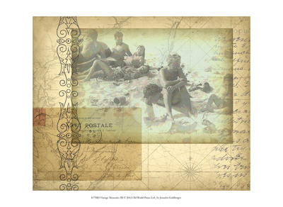 Vintage Memories III Prints by Jennifer Goldberger