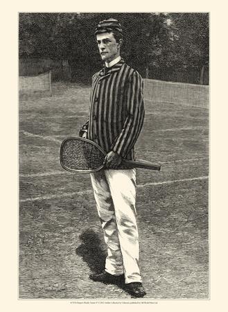 Harper's Weekly Tennis IV Poster