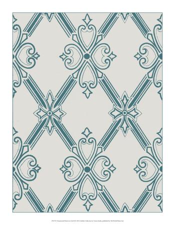 Ornamental Pattern in Teal II Giclee Print