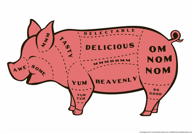 Tasty Pig Posters by  Snorg Tees