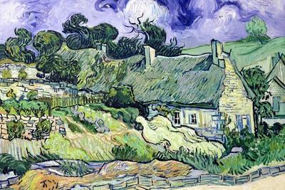 Thatched Cottages at Cordeville, Auvers-Sur-Oise, c.1890 Plakat af Vincent van Gogh