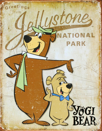 Yogi Bear - Jellystone Park Tin Sign