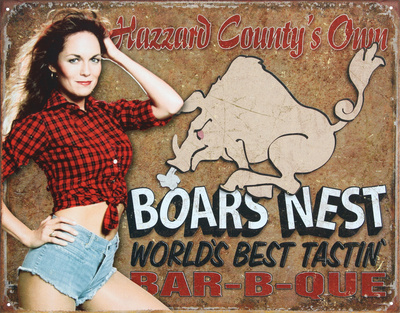 Dukes of Hazzard - Boars Nest Tin Sign