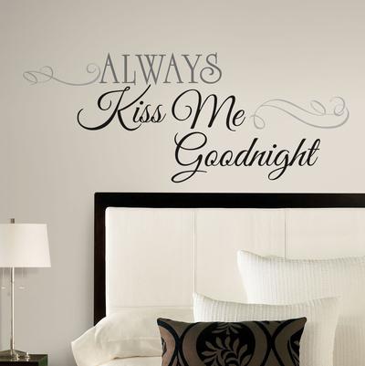 Always Kiss Me Goodnight Peel & Stick Wall Decals Muursticker