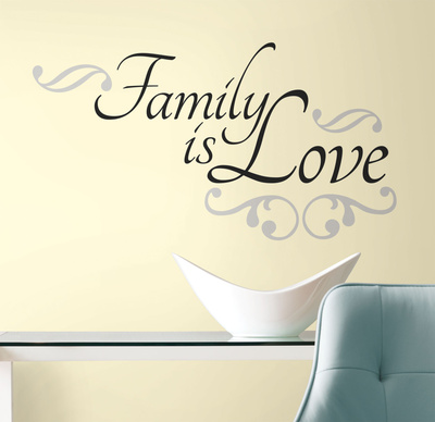 Family is Love Peel & Stick Wall Decals Wall Decal