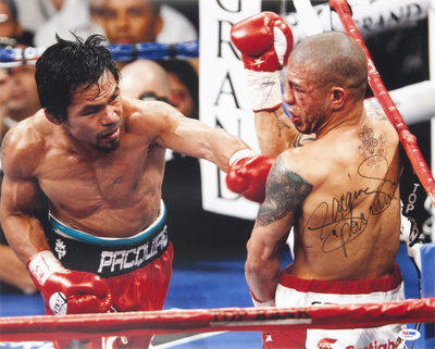 Manny Pacquiao vs Miguel Cotto boxing photo autographed poster print